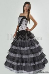 Long Poofy Prom Dresses 2017 - Black Prom Dresses