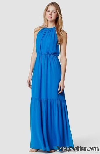casual blue maxi dress 2017-2018 » B2B Fashion