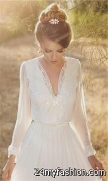 casual winter wedding dresses with sleeves 20182019  B2B Fashion
