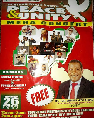 plateau state youth peace and unity concert