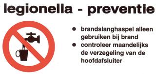 Saval veiligheid sticker Legionella 6 x 12 cm