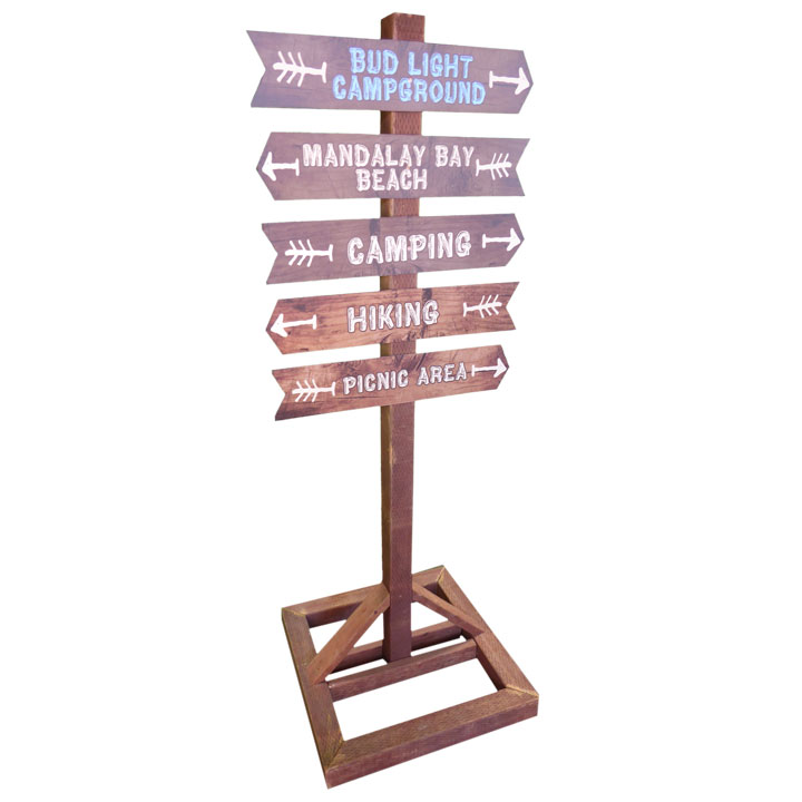 wooden directional signs 24