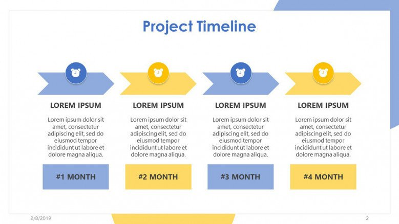 Project timeline template · 2. Project Timeline Free Powerpoint Template