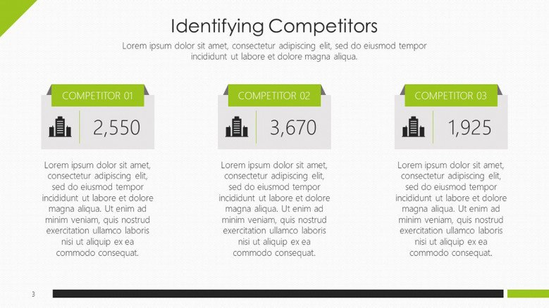 With this data on hand, you can begin. Competitor Analysis Marketing Free Powerpoint Template