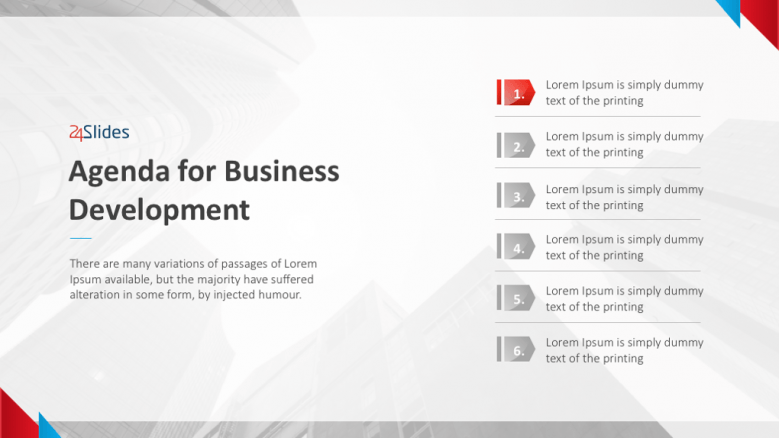 Here are some steps you can take when setting a meeting agenda. Business Development Agenda Template Free Powerpoint Templates