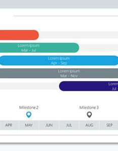 row gantt chart in various colours also corporate free powerpoint templates rh slides