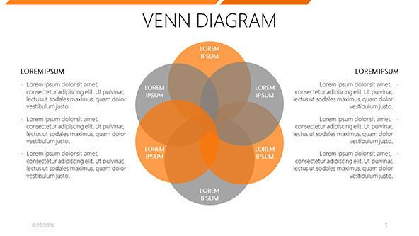 6 circle writable venn diagram example light bar wiring free powerpoint template