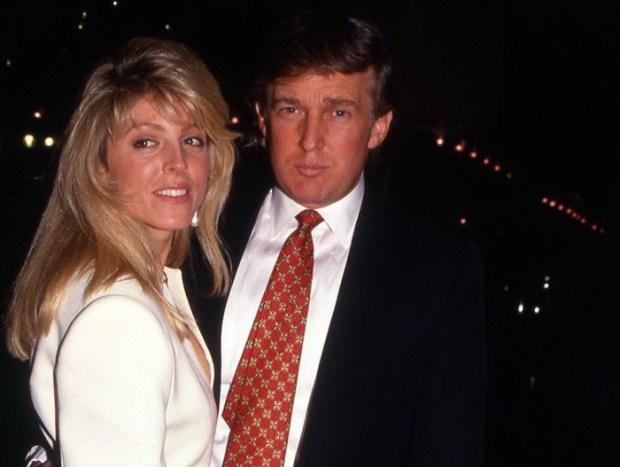 Дональд Трамп со второй женой Марлой Энн Мейплз