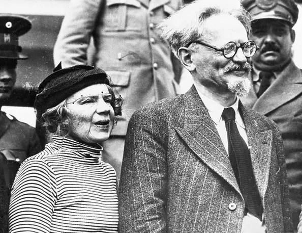 Лев Троцкий со второй женой Натальей Седовой