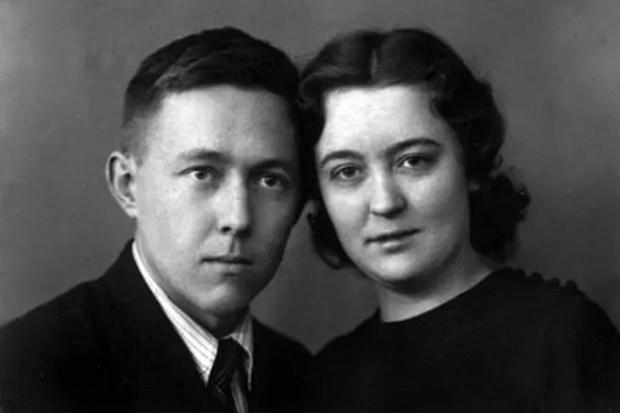 Александр Солженицын с женой