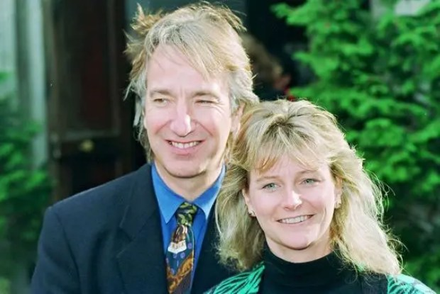 Алан Рикман с женой