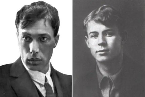Борис Пастернак и Сергей Есенин