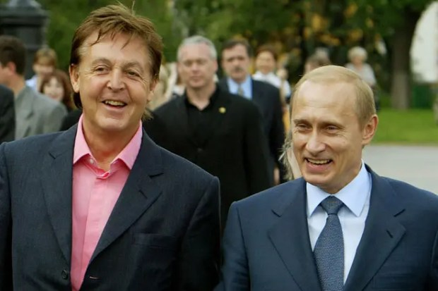 Пол Маккартни и Владимир Путин