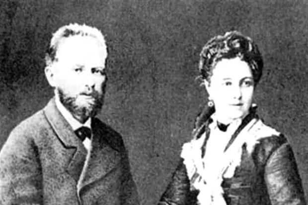 Петр Чайковский с женой Антониной Милюковой