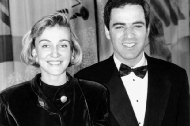 Гарри Каспаров с первой женой Марией