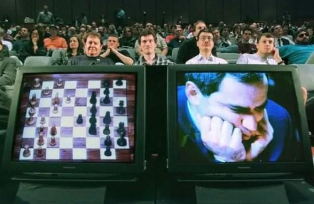 Гарри Каспаров в матче против Deep Blue