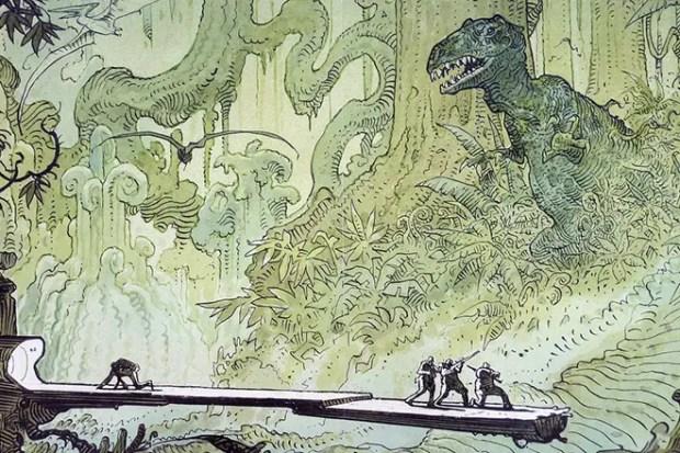Иллюстрация к рассказу Рэя Брэдбери «И грянул гром»