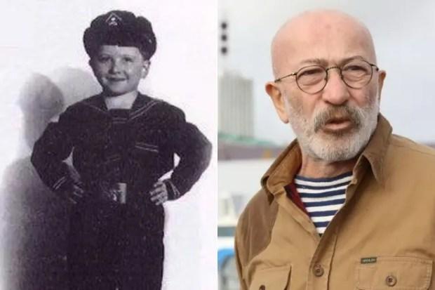 Александр Розенбаум в детстве и сейчас