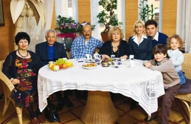 Александр Розенбаум с семьей