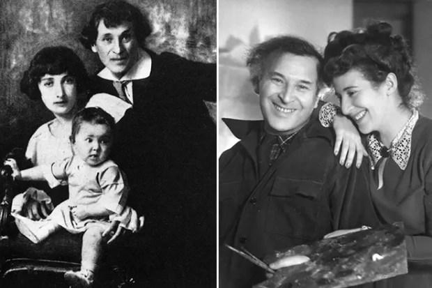 Марк Шагал и Белла с дочерью