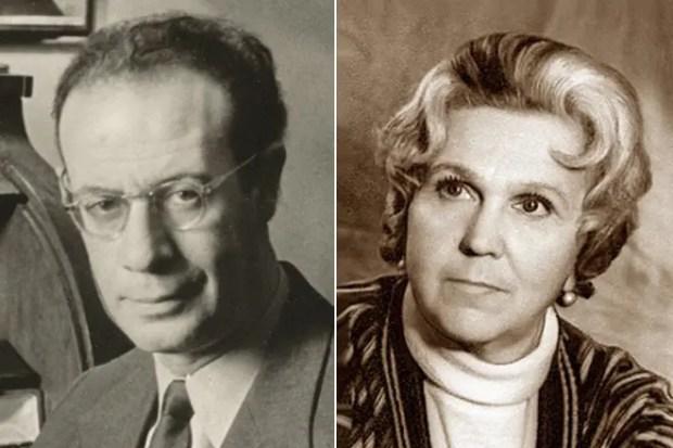 Лев Кассиль и его жена Светлана Собинова