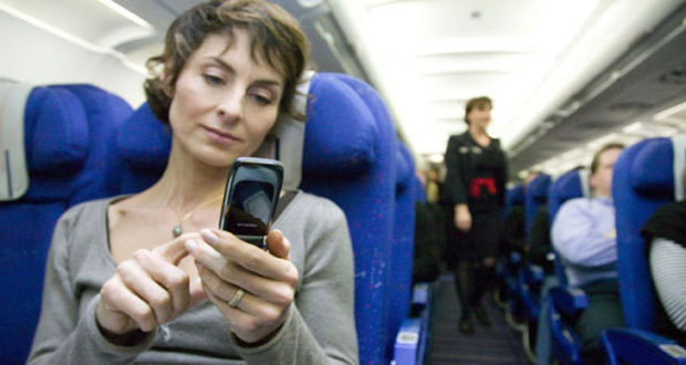 Reason for switching-off the electronic devices during take-off