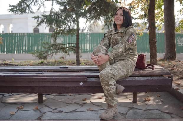 Майор 95-ої окремої десантно-штурмової бригади Тетяна Забродська
