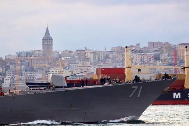 Чорне море, ракетний есмінець США, корабель