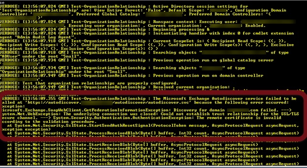 Troubleshooting Exchange Federation with Certificate Issues