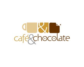 Café y chocolate 25 logos con mucho chocolate