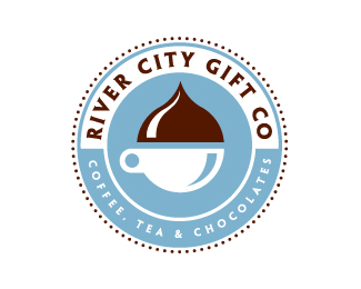 River City Gift Co 25 logos con mucho chocolate