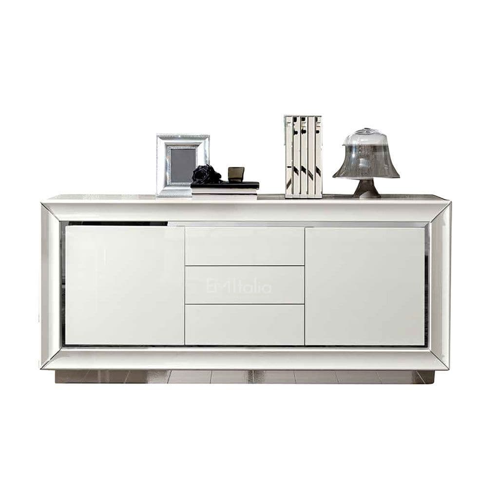 Sideboard Modern 3 Door Sideboard | White High Gloss | Camel Group | Modern Contemporary | Living Room Furniture | Em Italia Online