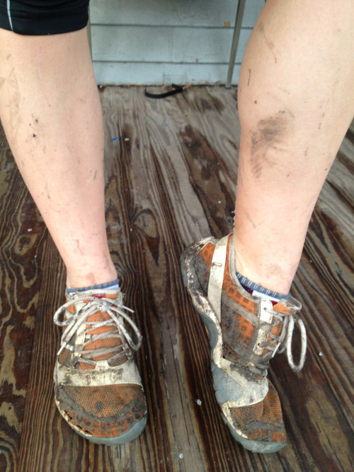 Good muddy run yesterday!