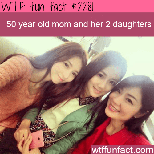 50 Year old mom and her 2 daughters - WTF fun facts