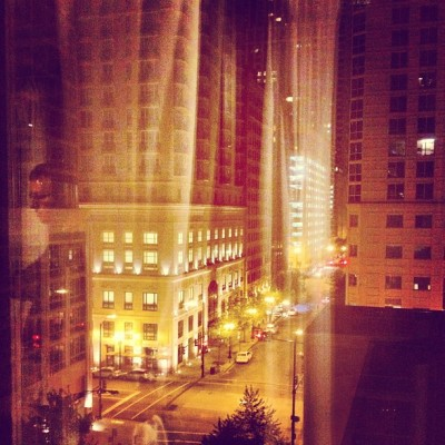 Chicago, gold coast, streelights,