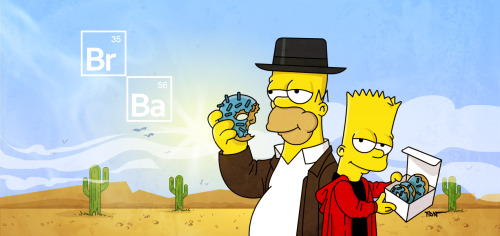 Homer and Bart are Walter White and Jessie Pinkman in Breaking Bad