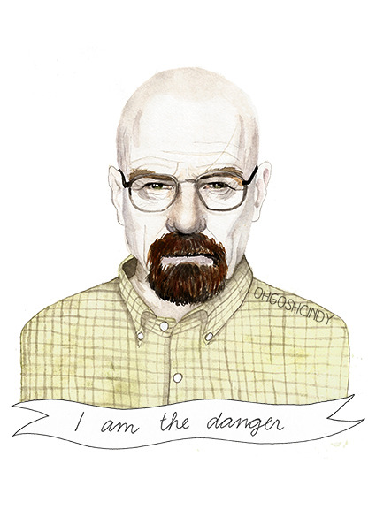 """I am the danger"", by ohgoshCindy on etsy"
