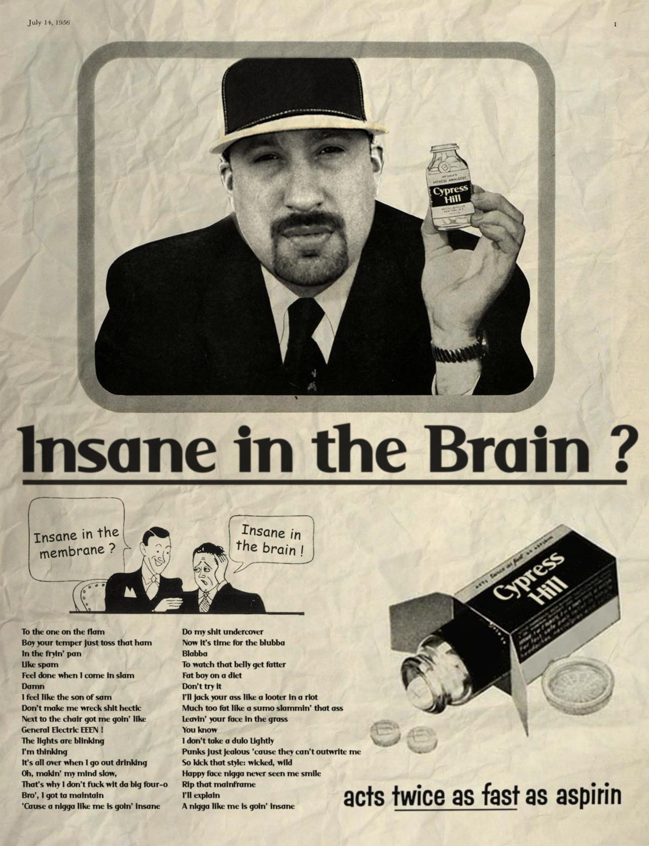 Insane in the brain / Cypress Hill © Ads Libitum :facebook/tumblr/behance