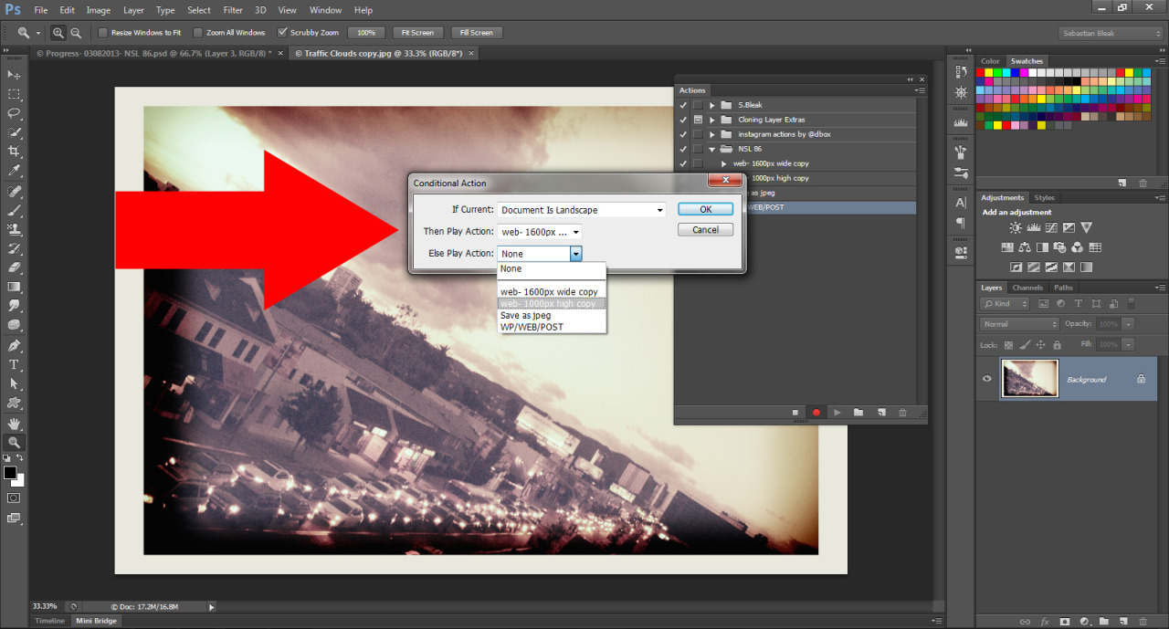 Conditions for Actions in Photoshop Creative Cloud