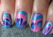 amazing tie dye nail design