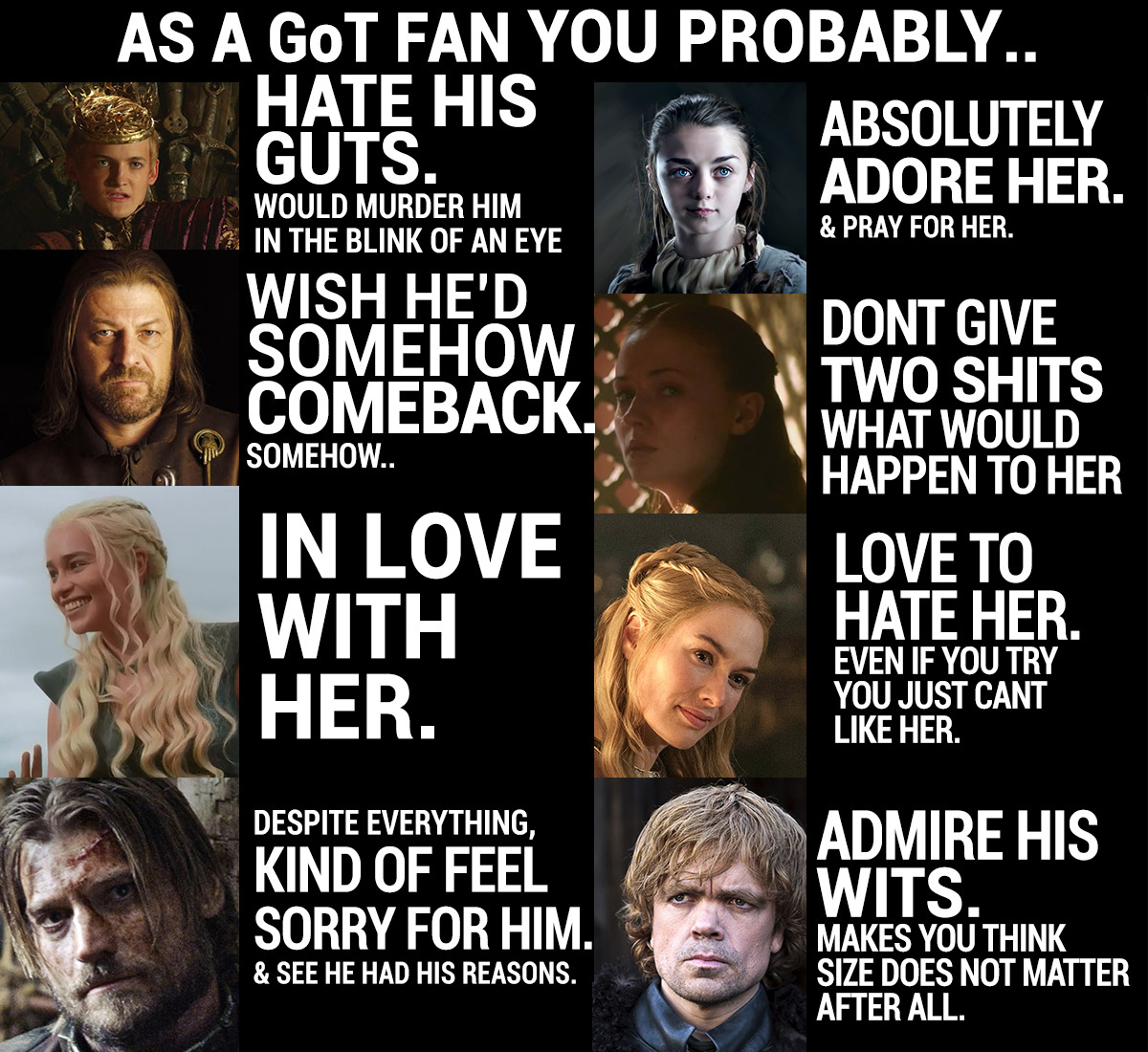 As a GoT fan you probably… (Pt.1)»Part 2 here «
