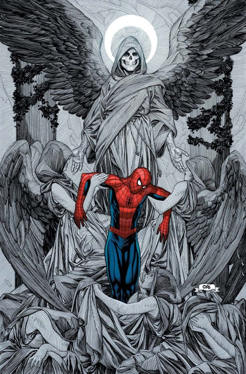 Frank Cho's variant cover to Ultimate Spider Man #