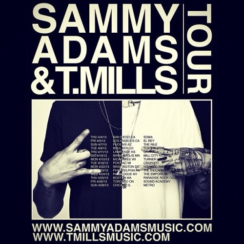 April tour announced w the brozay @sammyadams