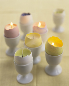 OSTARA CANDLES(via Eggshell Votives - Martha Stewart Candles and votives)