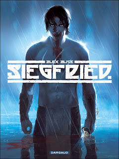 Title: Siegfried<br />Author: Alex Alice<br />Publisher:  Dargaud<br />Status: Available now<br />*full disclosure: Free thanks to the publisher via NetGalley for my Honest Review.<br />Description:<br />(by goodreads.com)<br />A three-part story inspired by Wagner's classic opera The Ring of the Nibelung. Siegfried, half-god and half-mortal, is a young boy being raised by Mime, one of the last of the dwarf-goblin Nibelungs, in a dark forest with only wolves for friends and family. While his foster parent only wants to live in peace and solitude, Siegfried yearns to discover who his real parents are and live amongst his own kind, not knowing that Odin, father of the Norse gods, has a destiny planned for him: to fight the dragon Fafnir, guardian of the Rheingold.<br />My Review: <br />Siegfried was fantastic on every level. The adaptation of the myth was excellent. The Art work is STUNNING and you feel for all the characters even the wolves! This is part of a trilogy, and unfortunately it's being translated from German so English readers are gonna have to be patient… but it's so worth it! Everyone who considers themselves a mythology fan or a graphic novel buff should be ashamed if they don't at least pick this up and give it a try.  Also Kudos Netgalley I could actually read everything this time and the imagine quality was superb!<br />Overall Rating: 6/7