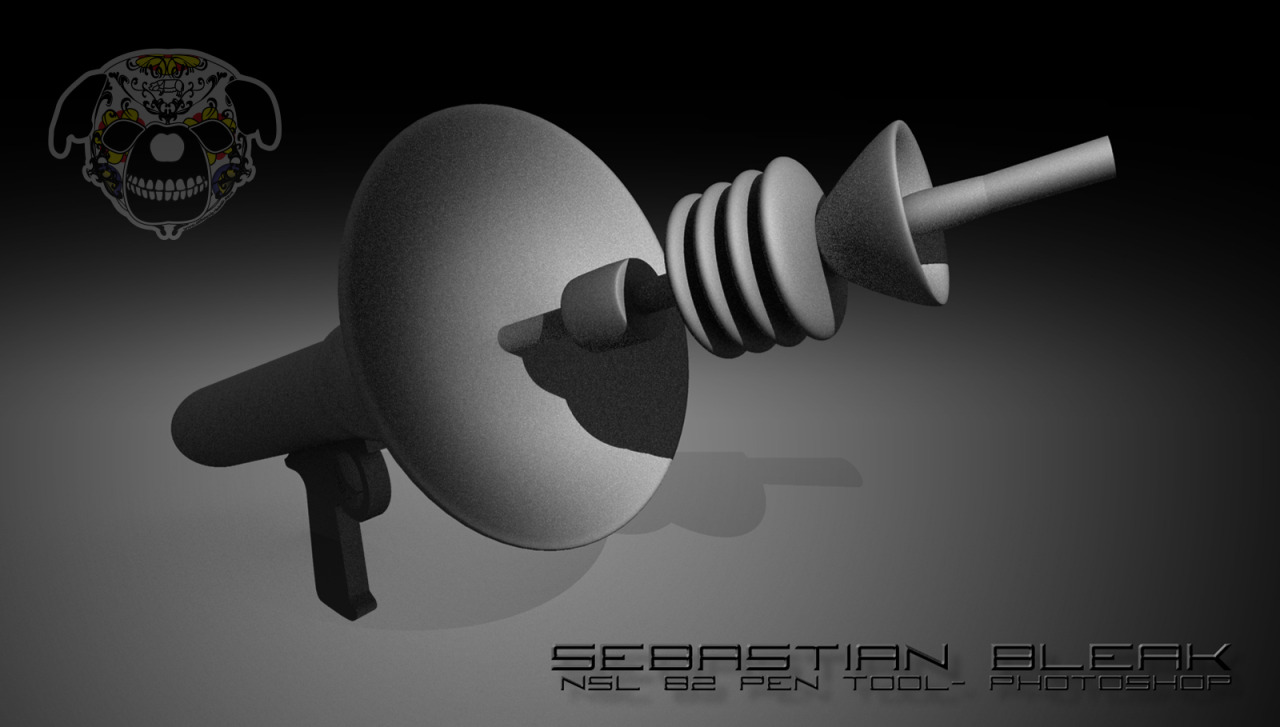 Ray Gun, 3D, in Photoshop 13.1
