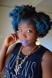 blue natural hair naturalhair