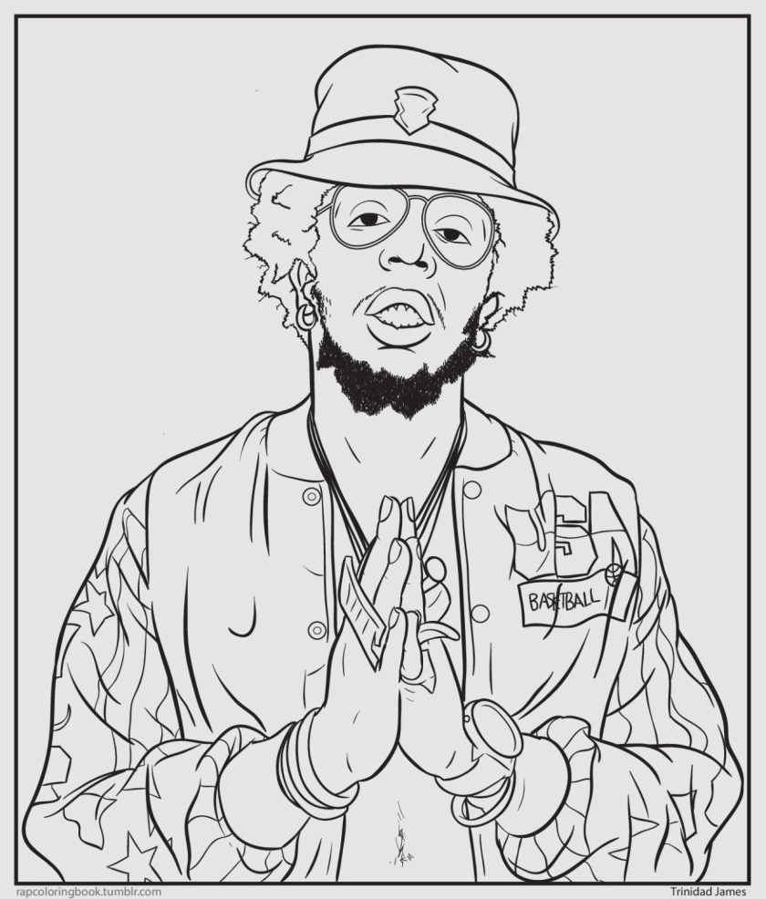 lmao. bun b's hip hop coloring book  page 2 — the ill