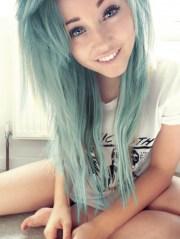 itt girls with light blue dyed