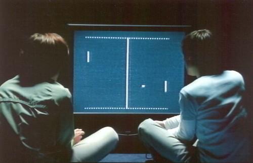 playing pong